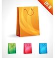 Set of a shopping bag vector image vector image