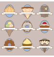 Set of ornate labels for cackes and other deserts vector image vector image