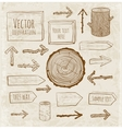 Set of rustic wooden backgrounds and objects vector image vector image