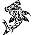 shark in tribal vector image