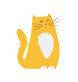 smiling ginger cat pet closeup vector image vector image
