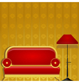 sofa and a floor lamp vector image