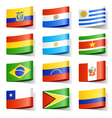 south america flags vector image