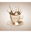 Splashing coffee drink vector image vector image