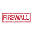 stamp text firewall vector image