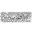 summer hand drawn cartoon doodle vector image vector image
