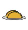 tacos food mexican culture related icon image vector image vector image