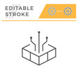 technology editable stroke line icon vector image vector image