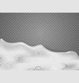 transparent scene with foam effect objects vector image