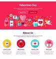 Valentine Day Web Design vector image vector image