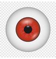 vampire eye icon realistic style vector image
