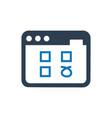 web survey icon vector image vector image