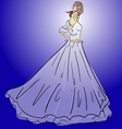 wedding dress vector image