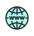 world global network icon vector image
