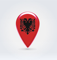 Albanian icon point for map vector image vector image