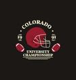 american football university championship badge vector image vector image