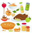 apple food and drinks or desserts vector image vector image