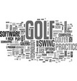 are you ready for high tech golf text word cloud vector image vector image