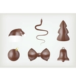 Assorted chocolate icons vector image