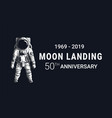 astronaut moon landing 50th anniversary image vector image vector image