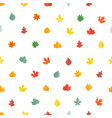 autumn leaves seamless pattern stylish background vector image