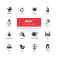 ba- line design icons set vector image