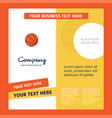 basketball company brochure template busienss vector image vector image