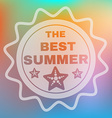 Best Summer Text Card vector image vector image