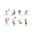 birthday people set vector image