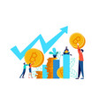 bitcoin online stock market concept for business vector image vector image
