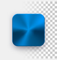 blue app icon template with metal texture vector image vector image