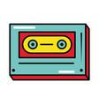 cassette classic pop art comic style flat icon vector image