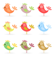 cheerful birdies vector image vector image