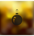 christmas ball icon on blurred background vector image