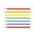 color pencils drawing isolated pencils spectrum vector image