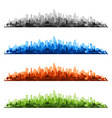 colorful cityscapes vector image