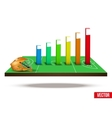 Concept of statistics about the game lacrosse vector image vector image