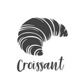 croissant glyph icon vector image vector image