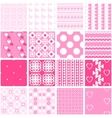 Cute pink seamless patterns Endless vector image vector image