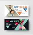design gift black and white voucher with vector image