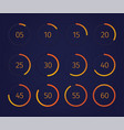 digital clock timer set vector image vector image