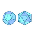 dodecahedron and icosahedron vector image