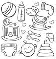 doodle batoy element vector image vector image