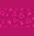 doodle hearts pattern romantic love brushed vector image
