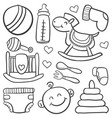 doodle of baby toy element vector image vector image
