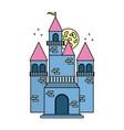 fairy blue castle vector image
