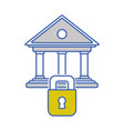 finance bank economy with padlock security vector image