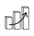financial chart bars arrow vector image