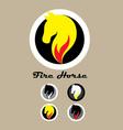 Fire Horse Logo vector image vector image