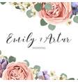 Floral elegant botanical save date card design